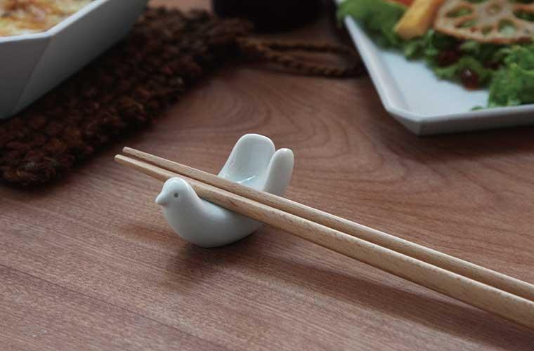 白山陶器 鳥のはし置き 画像 01