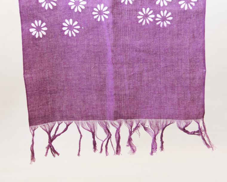 フリンジ手ぬぐい(紫色) 画像1