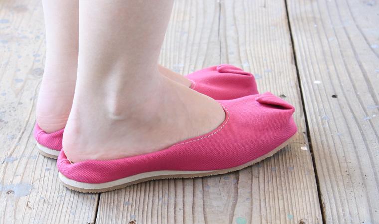 バブーシュサンダル tote ピンク 画像5